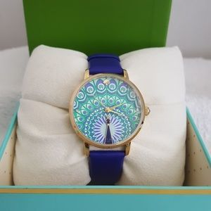 New kate spade Critter Metro Leather Strap Watch